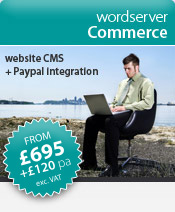 wordserver website software | wordserver Commerce (e300) > a cost-effective website software solution including integration of the PayPal shopping cart