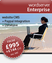 wordserver website software | wordserver Enterprise (e400) > affordable website software solution with integrated database and the PayPal shopping cart